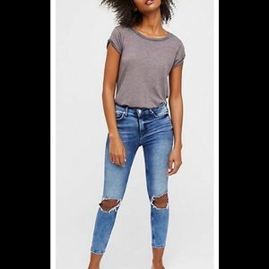 Free People NWT Skinny Jeans Sz 26 Turquoise
